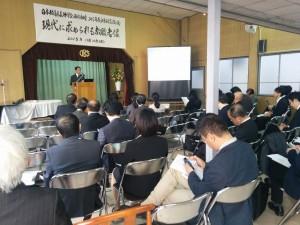 分科会で講演する本学院教師の池田
