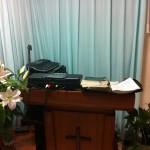 牧師、伝道師がいつも登壇する祭壇