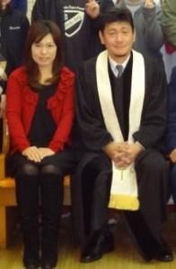 担任牧師 金承熙牧師と角城かおり夫人